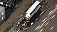 観光バスが高速道路で出火 札幌・札樽道 けが人なし