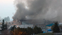 旭川の産業廃棄物処理施設で火災 10人搬送