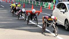 車いすランナー道都疾走 初の同時開催 北海道マラソン
