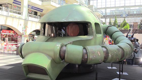 「ザク」実物大ヘッドも 札幌でガンダム展