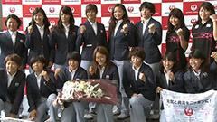 リオ五輪女子ラグビー代表 桑井亜乃ら出発