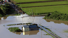 石狩川氾濫 台風9号爪あと 橋の崩落も