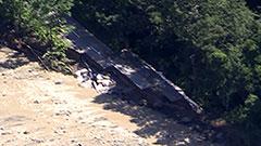 天人峡の被害拡大 台風3連続通過で地盤緩む